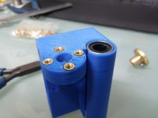 new right X axis carriage with knurl nuts inserted and bearing